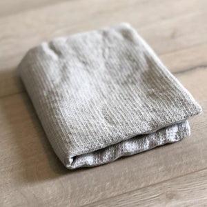 SILVER WAFFLE HAND TOWEL