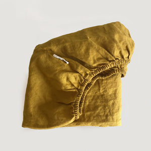 MUSTARD FITTED SHEET