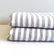 Load image into Gallery viewer, GREY STRIPE PILLOWCASE