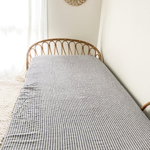 Load image into Gallery viewer, SEA BREEZE STRIPE FITTED SHEET