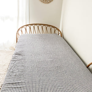 SEA BREEZE STRIPE FITTED SHEET