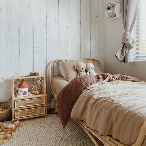 ALMOND + MUD DUVET SET