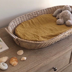 BASSINET MUSTARD FITTED SHEET