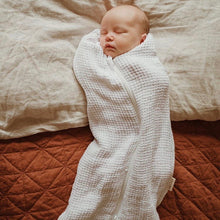 Load image into Gallery viewer, Waffle Swaddle/Sleeping Bag in White