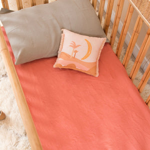 COT SIZE CORAL FITTED SHEET