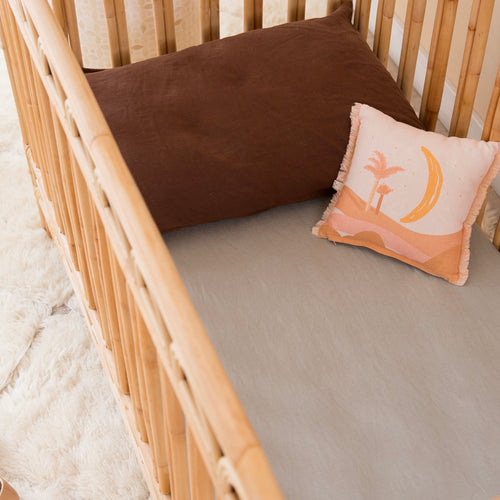 COT SIZE SAGE FITTED SHEET