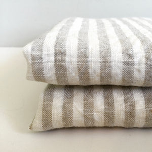 NATURAL STRIPE PILLOWCASE