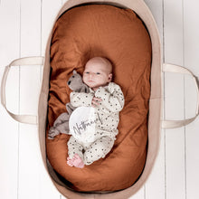 Load image into Gallery viewer, BASSINET CLAY FITTED SHEET