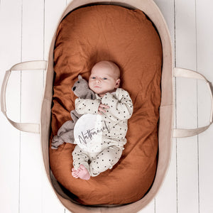 BASSINET CLAY FITTED SHEET