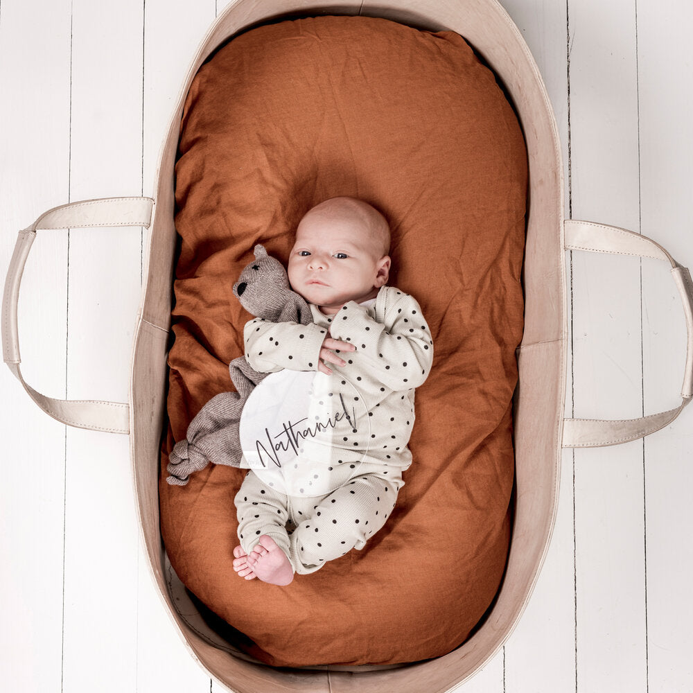 BASSINET CLAY FITTED SHEET PREORDER ETA LATE OCT