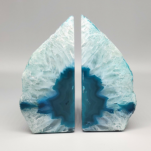 Agate Geode Bookends (4LB 15OZ)
