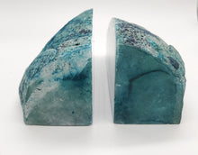 Load image into Gallery viewer, Agate Geode Bookends (4LB 15OZ)