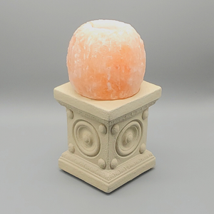 Himalayan Salt Candle Holder White Stand