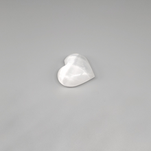 "Load image into Gallery viewer, Selenite Heart Stones 1.5"" x 1.5"""