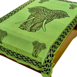 "Celtic Elephant Green Tapestry - 72"" x 108"""