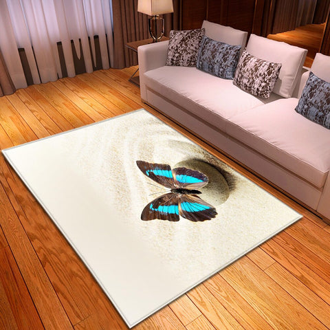 Tapis papillon - Sable