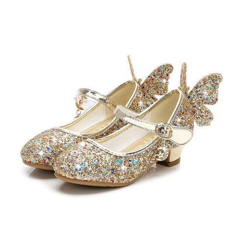 Sandales papillon fille or