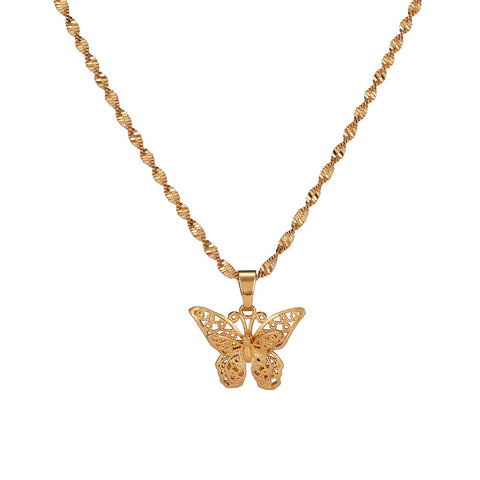 Collier papillon en or