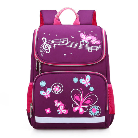 Cartable papillon violet