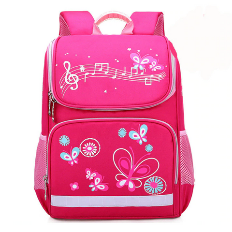 Cartable papillon rose