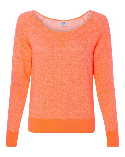 Orange Sweaterfleece Wideneck