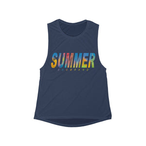 Women's Flowy Scoop Muscle Tank Summer 2020 Hot Trend Fashion Camp