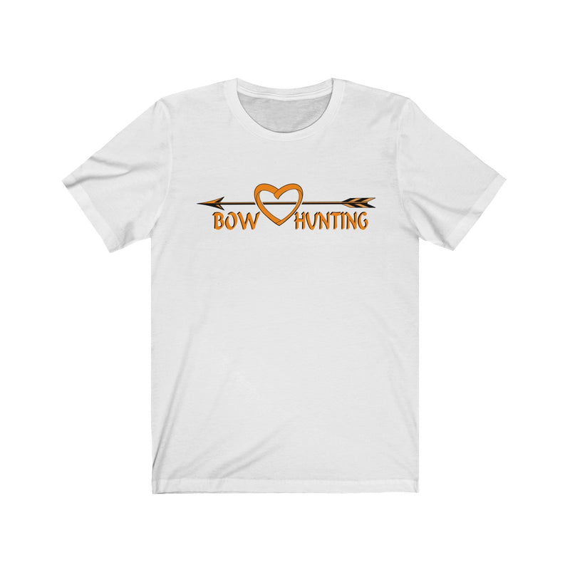 Unisex Jersey Short Sleeve Tee Love Bow Hunting Hunt Wear Gift