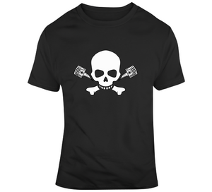 Biker Skull Piston Motorcycle Bike Gift T Shirt