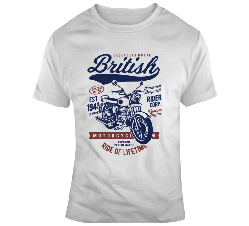 British Motorcycle Bike Vintage Rider Gift T Shirt
