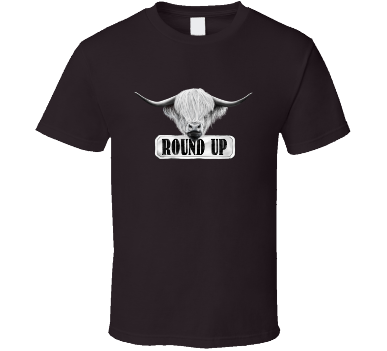 Round Up Cow Ranch Horse Farmer Girl texas Cowboy Cowgirl Gift T Shirt