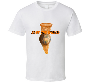 Condom Save The World Global Warming News Climate Change Activist Gift T Shirt