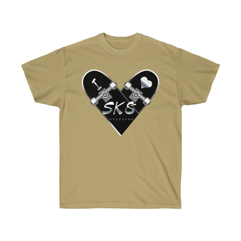 Unisex Ultra Cotton Tee Skate Into Love Brgbrand  Skateboard Raw T shirt