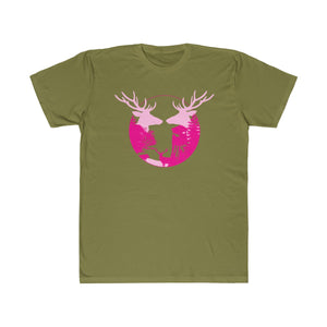 Unisex Fitted Tee pink hunts round hunt wear ladies gift 2020