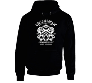 Custom Garage Vintage Motorcycle Biker Chopper Gift Hoodie