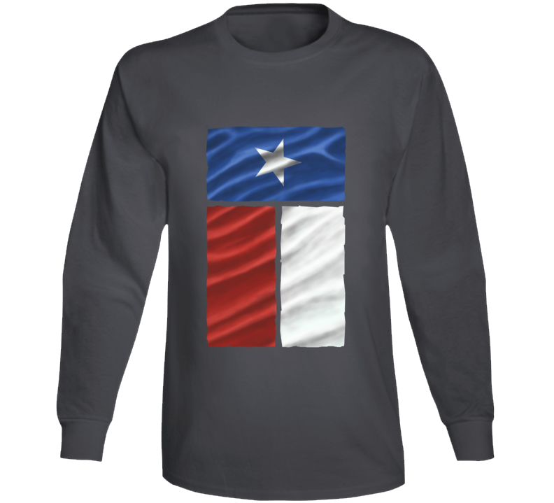Texas Flag Lone Star Counties Country Ranch Western Rodeo Cowboy Cow Girl Gift Long Sleeve