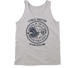 Fitness Fittest Addiction Motivation Sport Gift Tanktop