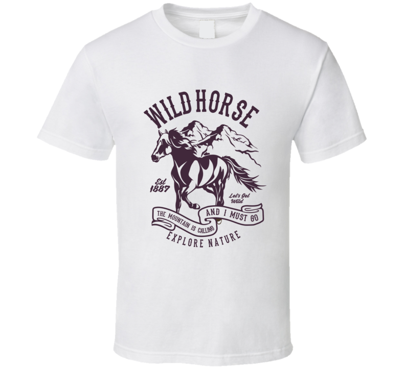 Wild Horse Western Ranch Vintage Gift T Shirt