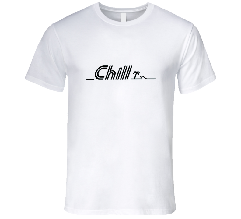 Chill black Beach Palmtree Surf Party T Shirt