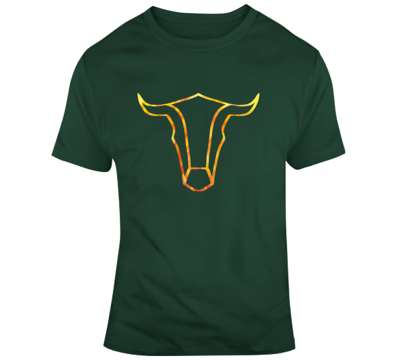 Bull On Fire Hunt Wear Texas Ranch Western Clothing T Shirt