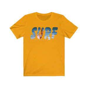 Unisex Jersey Short Sleeve Tee Surf Brgbrand ci mid Surfboard Surfing T shirt