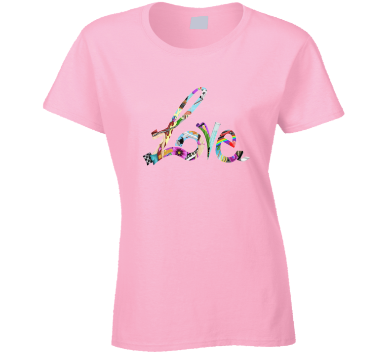 Love Is Not A Movie Life Live Fashion Tattoo Pink Gift T Shirt