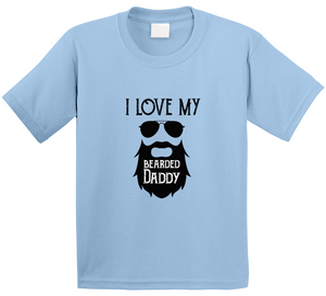 I Love My Bearded Daddy Beard Fathersday 2020 Father Gift T Shirt