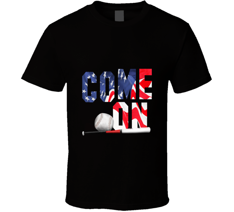 Rbi Baseball Come On Game Today Ball Bat Sport Fan Gift T Shirt