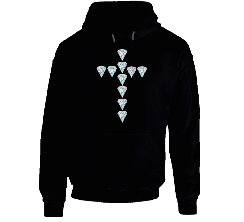 Diamond Cross Faith Fashion Love Gift Hoodie
