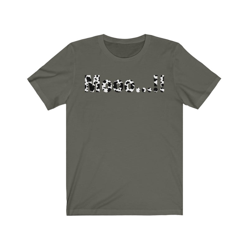 Unisex Jersey Short Sleeve Tee Mooo Cow Print Graphic Funny T shirt
