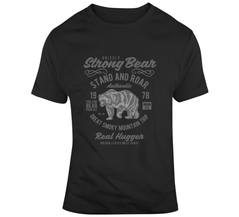Strong Bear Outdoor Grizzly Wildlife Survival Supply 2020 T Shirt