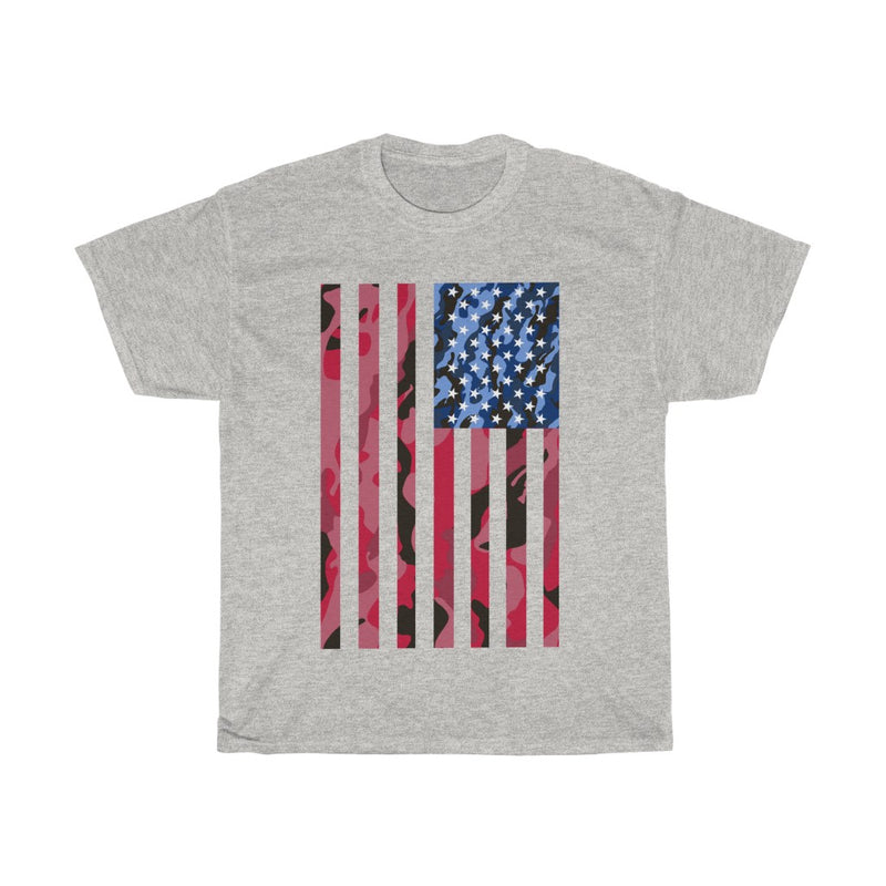 Unisex Heavy Cotton Tee American Camo Flag 4 Juli 2020 Gift T shirt