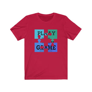 Unisex Jersey Short Sleeve Tee Play The Game Puzzle Funny Graphic t shirt
