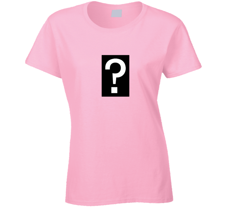 Questionmark Pink Fashion Trend Lover Gift Ladies T Shirt