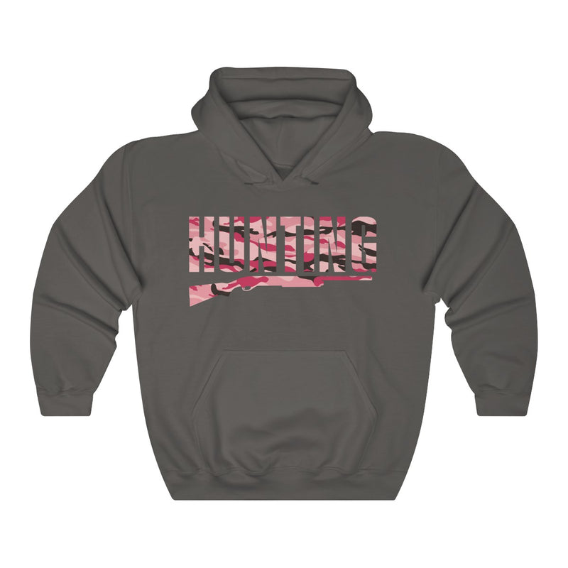 Unisex Heavy Blend™ Hooded Sweatshirt hunting camo pink Hunt Wear Clothing gift